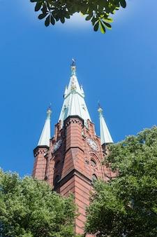 De kerk van saint clare in het centrum van stockholm, zweden