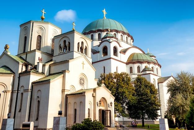 De kerk van saint sava. belgrado, servië