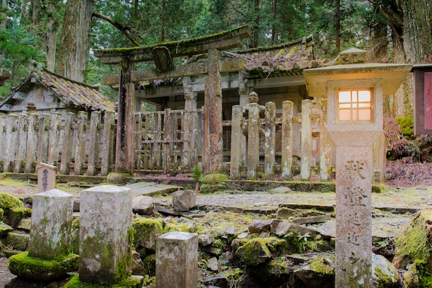 De kerkhoftempel okunoin, koyasan wakayama japan