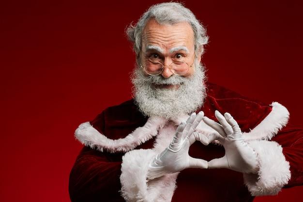 De kerstman houdt van je