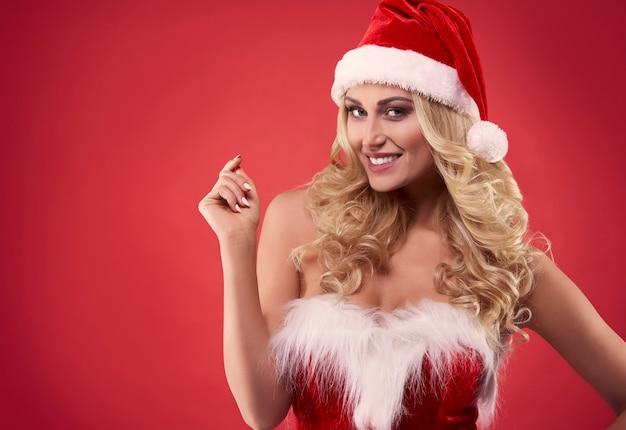 De kerstman is sexy dressing