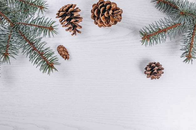 De kerstvlakte lag op houten achtergrond
