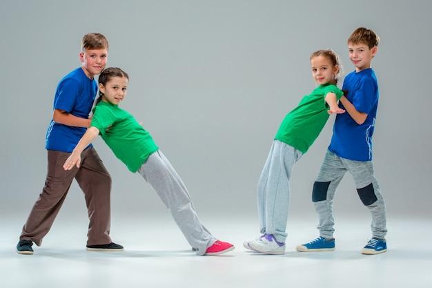 De kinderen dansschool, ballet, hiphop, straat, funky en moderne dansers