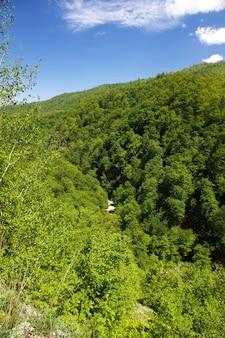 De kleine rivier in bergen van de kaukasus, armenië