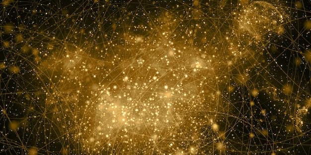 De kleuren van de nevels talloze sterren fantasie abstract universum 3d-afbeelding