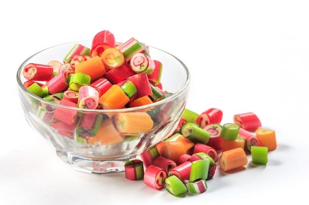 De kleurrijke jelly snoepjes