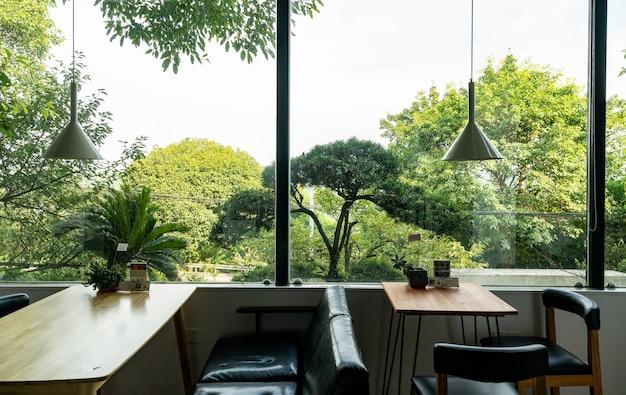 De koffieshop in de tuin bevindt zich in het resorthotel