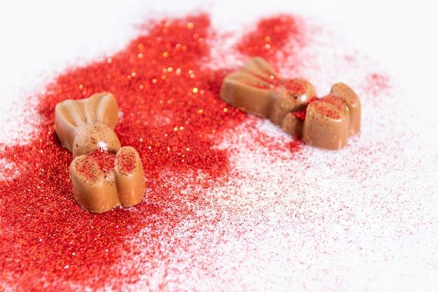De konijnvormige chocolade
