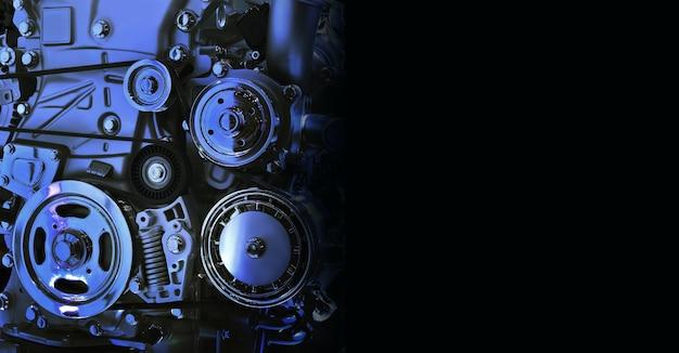 De krachtige motor van een auto intern ontwerp van de motor voor kopieerruimte