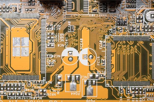 De kringsraad van de computer, elektronische technologieachtergrond.