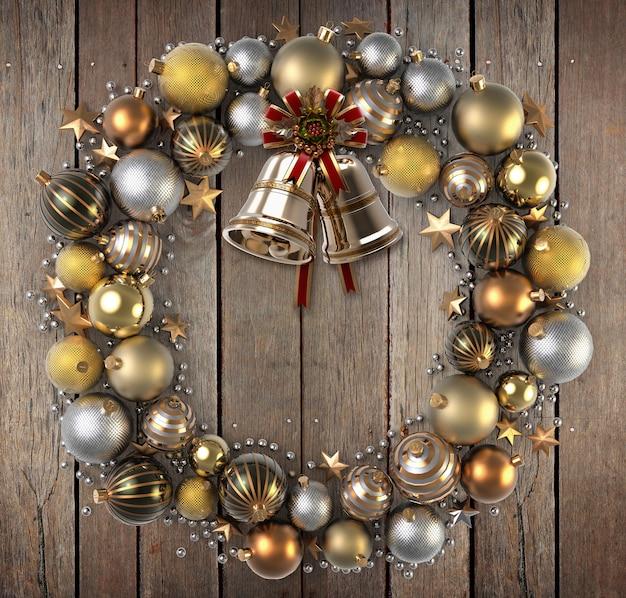 De kroon van kerstmis over hout