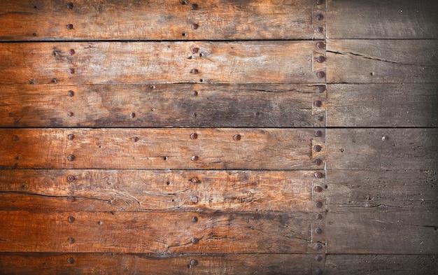 De landelijke oude, grunge houten panelen. selectieve aandacht