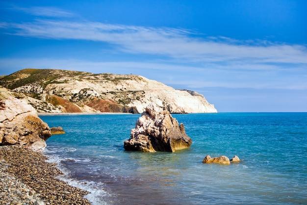 De legendarische geboorteplaats van aphrodite in paphos, cyprus