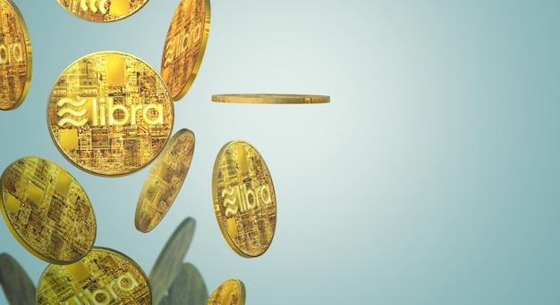 De libra facebook 3d rendering cryptocurrency inhoud.
