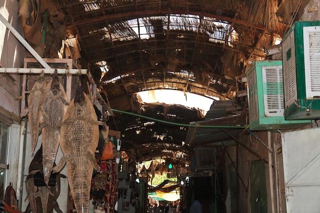 De lokale markt in khartoem, soedan