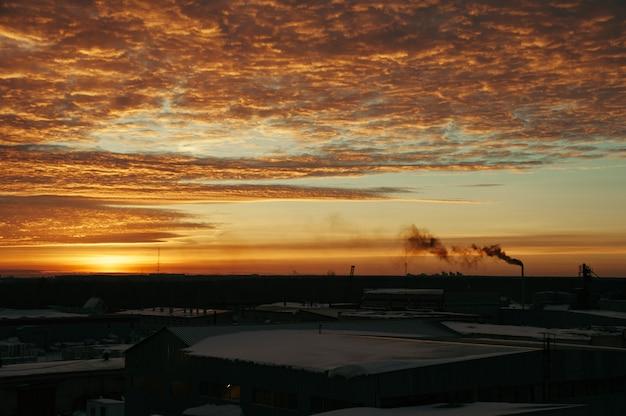 De lucht bij zonsopgang