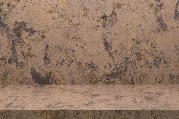 De marmeren achtergrond van de lijstluxe voor de tribune van het vertoningsproduct met lege exemplaarruimte