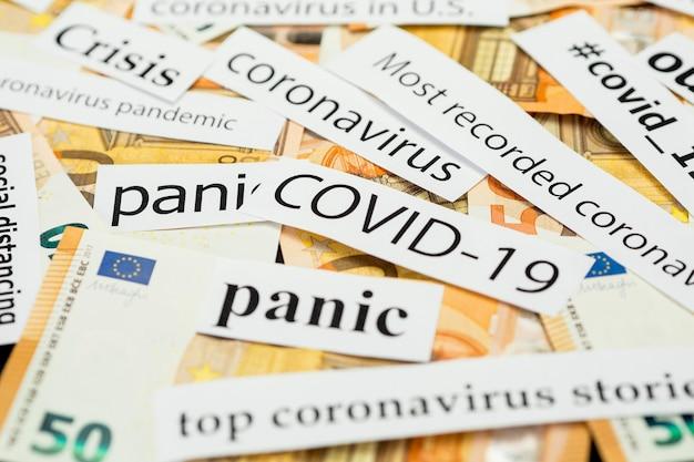 De meeste geregistreerde pandemische crises en geld