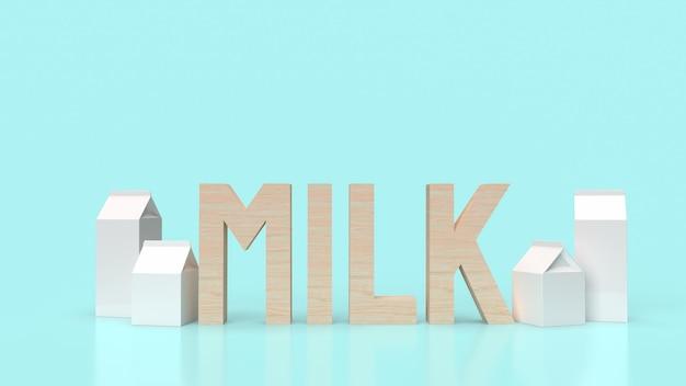 De melktekst en het vak voor het 3d teruggeven van voedselinhoud.