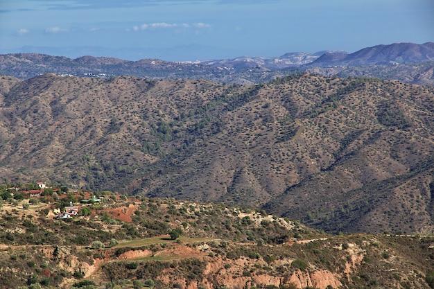 De mening over het dorp van lefkara, cyprus