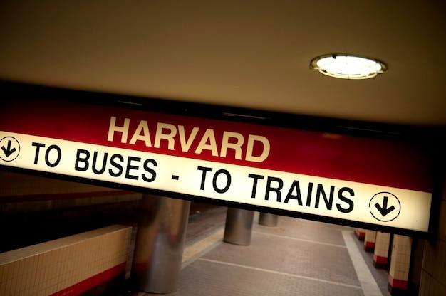De metropost van harvard in boston, massachusetts, de vs