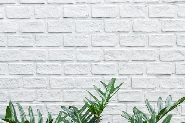 De moderne witte bakstenen muur textuur voor achtergrond. abstracte ontwerp achtergrond