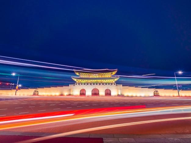 De mooie architectuurbouw van gyeongbokgungpaleis