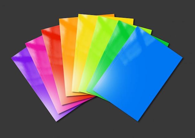 De multi kleurenboekjes variëren op zwarte achtergrond