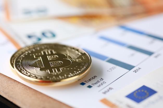 De munt van crypto valuta bitcoin