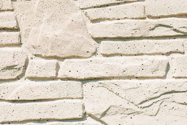 De muren zijn gemaakt van stenen blokken van verschillende afmetingen