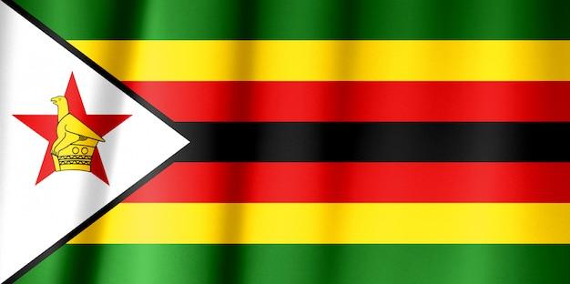 De nationale vlag van de republiek zimbabwe
