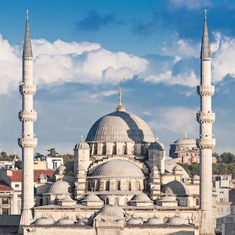 De nieuwe moskee in istanbul, turkije