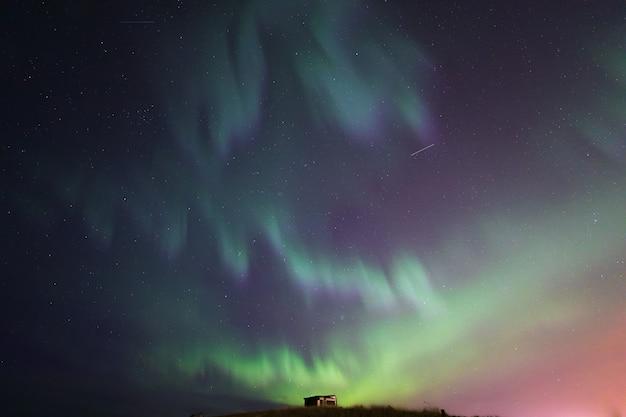De northern light aurora borealis ijsland
