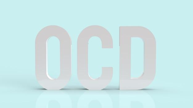 De ocs of obsessieve compulsieve stoornis voor 3d-weergave van gezondheids- en medische inhoud