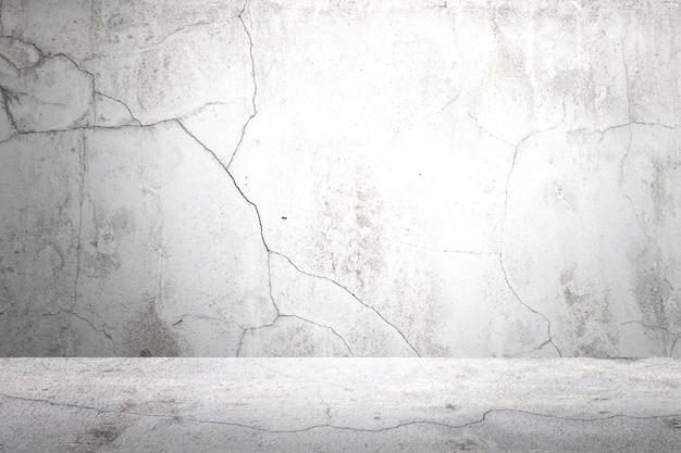 De oude achtergrond van gray cement wall en van de vloer