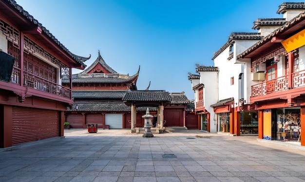 De oude bouw van de tempel van nanjing confucius