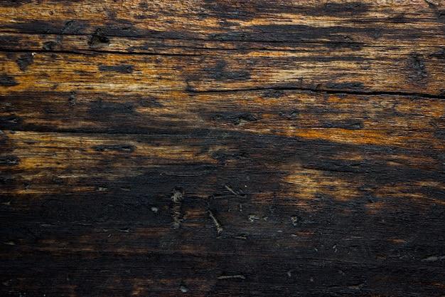 De oude houten bruine en zwarte achtergrond van de kleuren abstracte textuur.
