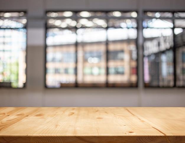 De oude houten vertoning van het lijstblad met abstract onduidelijk beeldvenster