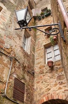 De oude italiaanse stad pienza