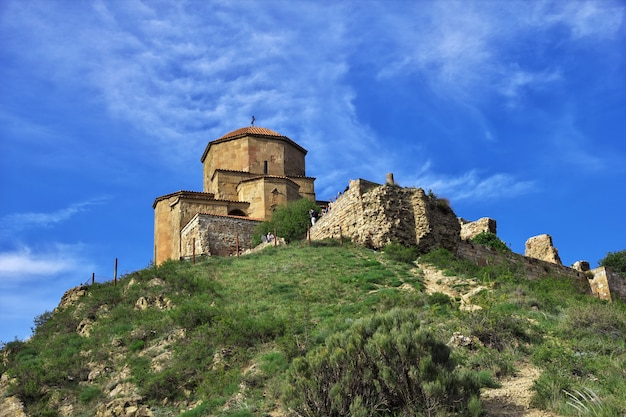 De oude kerk in jvari, georgië