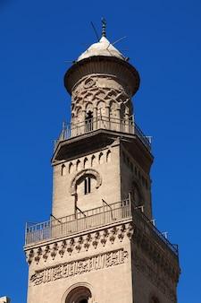 De oude moskee in caïro, egypte