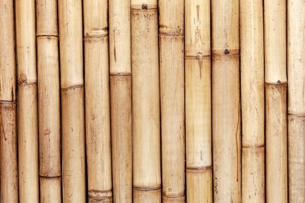 De oude muur van de bamboeomheining voor aardachtergrond en webontwerp