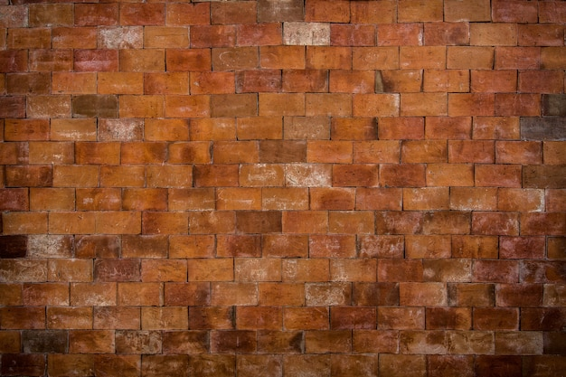 De oude roodbruine achtergrond van de bakstenen muurtextuur.