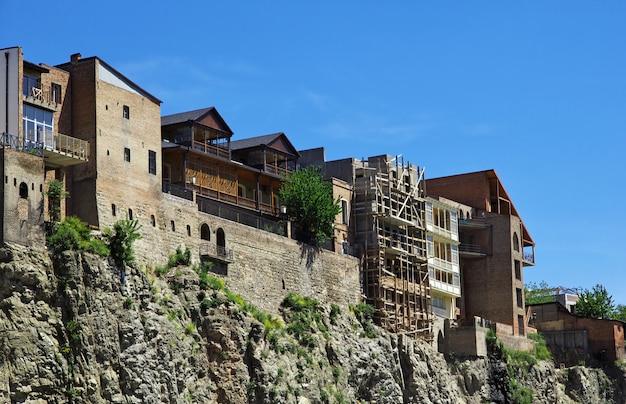 De oude stad in de stad tbilisi, georgië