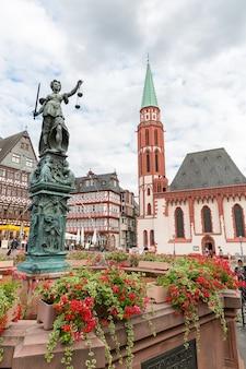De oude stad van frankfurt