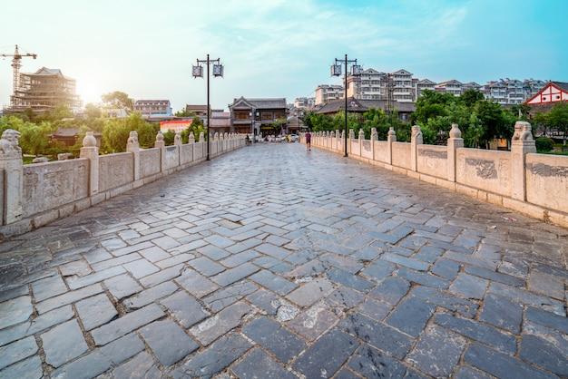 De oude stad van qingzhou, provincie shandong, china