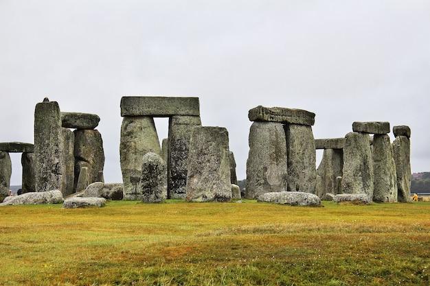 De oude tempel van stonehenge, engeland, uk