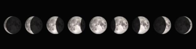 De periode van volle maan tot nieuwe maan.