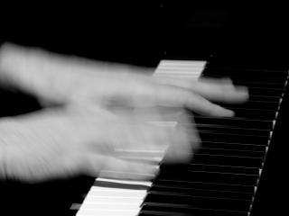 De pianoman, snel, piano