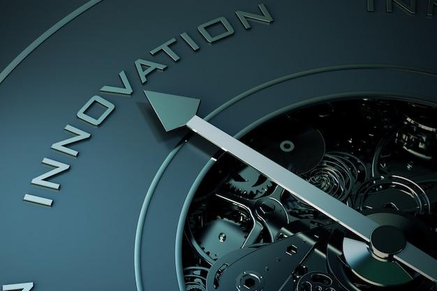 De pijl van een kompas geeft de innovatierichting aan